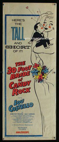 z007 30 FOOT BRIDE OF CANDY ROCK insert movie poster '59 Lou Costello