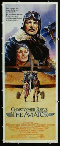 z038 AVIATOR insert movie poster '85 Christopher Reeve, Arquette
