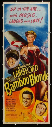 z041 BAMBOO BLONDE insert movie poster '46 sexy Frances Langford!