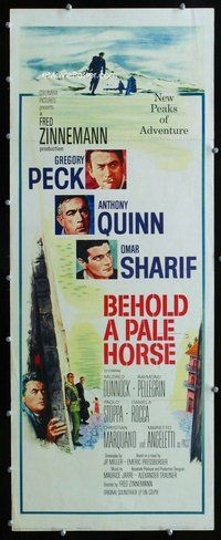 z046 BEHOLD A PALE HORSE insert movie poster '64 Gregory Peck, Quinn
