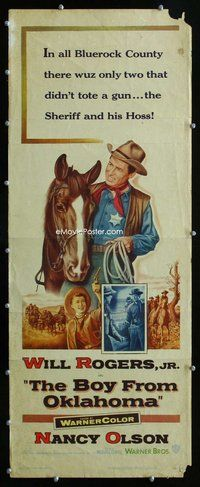 z060 BOY FROM OKLAHOMA insert movie poster '54 Will Rogers Jr, Curtiz