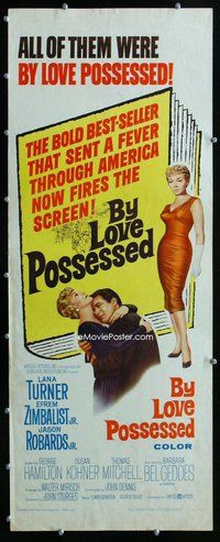 z067 BY LOVE POSSESSED insert movie poster '61 Lana Turner, Zimbalist