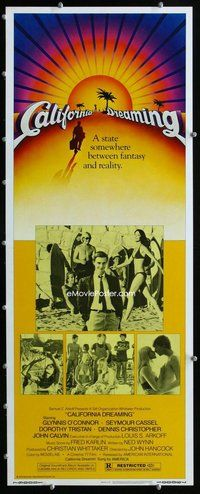 z068 CALIFORNIA DREAMING insert movie poster '79 teens on the beach!