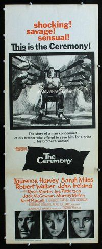 z076 CEREMONY insert movie poster '64 Laurence Harvey, Sarah Miles