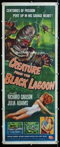 z001 CREATURE FROM THE BLACK LAGOON insert movie poster '54 classic!