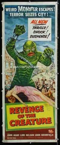 z002 REVENGE OF THE CREATURE insert movie poster '55 great image!