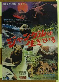 z446 AFRICAN SAFARI Japanese movie poster '69 cool jungle animals!