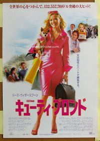 z536 LEGALLY BLONDE Japanese movie poster '01 Reese Witherspoon
