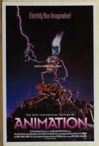 a002 24TH INTERNATIONAL TOURNEE OF ANIMATION one-sheet movie poster '92