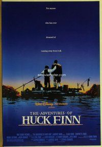 a005 ADVENTURES OF HUCK FINN DS one-sheet movie poster '93 Elijah Wood