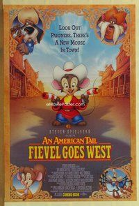 a015 AMERICAN TAIL: FIEVEL GOES WEST DS advance one-sheet movie poster '91