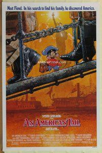 a013 AMERICAN TAIL style A one-sheet movie poster '86 Spielberg, Struzan art