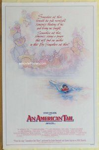 a014 AMERICAN TAIL style B one-sheet movie poster '86 Spielberg, Struzan art