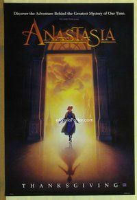 a016 ANASTASIA DS teaser A one-sheet movie poster '97 Don Bluth animation!