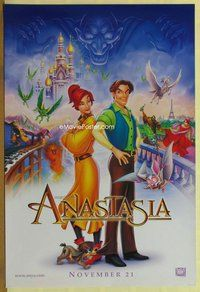 a017 ANASTASIA DS teaser B one-sheet movie poster '97 Don Bluth animation!