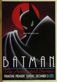 a030 BATMAN THE ANIMATED SERIES TV advance one-sheet television poster '92