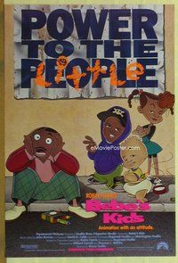 a034 BEBE'S KIDS DS advance one-sheet movie poster '92 Robin Harris