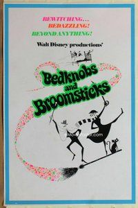 a035 BEDKNOBS & BROOMSTICKS special blacklight one-sheet movie poster '71