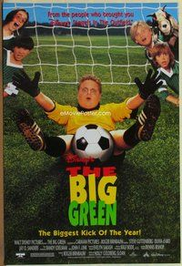 a036 BIG GREEN DS one-sheet movie poster '95 Walt Disney soccer/football!