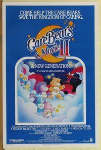 a041 CARE BEARS MOVIE 2 one-sheet movie poster '86 A New Generation!