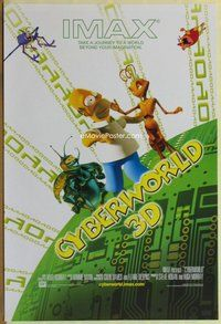 a048 CYBERWORLD DS one-sheet movie poster '00 Homer Simpson, IMAX 3-D!