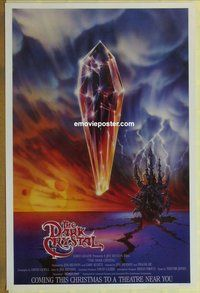 a050 DARK CRYSTAL advance one-sheet movie poster '82 cool different image!