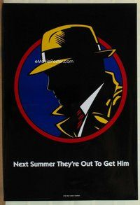 a051 DICK TRACY DS Next Summer style teaser one-sheet movie poster '90 Warren Beatty