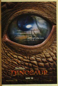 a053 DINOSAUR DS teaser one-sheet movie poster '00 Walt Disney CG cartoon!