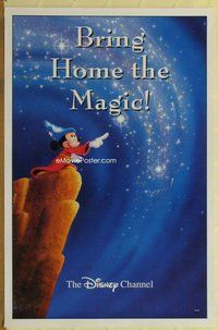 a038 BRING HOME THE MAGIC TV one-sheet television poster '90s Mickey in Fantasia!