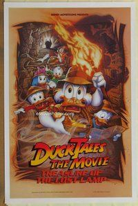 a054 DUCKTALES THE MOVIE DS one-sheet movie poster '90 Disney cartoon!