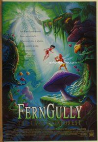 a062 FERNGULLY DS one-sheet movie poster '92 Christian Slater, Curry