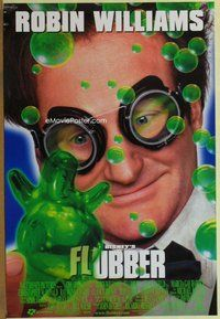 a064 FLUBBER DS one-sheet movie poster '97 Robin Williams, Walt Disney