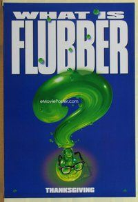 a065 FLUBBER DS teaser one-sheet movie poster '97 Robin Williams, Walt Disney