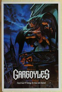 a068 GARGOYLES TV one-sheet television poster '94 really cool artwork image!