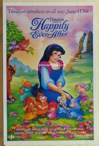 a072 HAPPILY EVER AFTER DS one-sheet movie poster '93 a new Snow White!