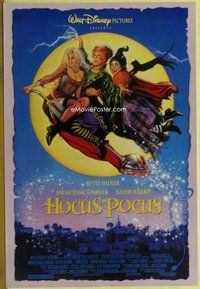 a079 HOCUS POCUS DS one-sheet movie poster '93 Midler, Drew Struzan art!
