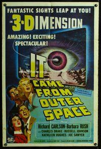 b014 IT CAME FROM OUTER SPACE one-sheet movie poster '53 classic 3D sci-fi!