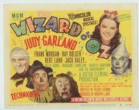 d001 WIZARD OF OZ movie title lobby card R49 completely different design!