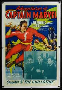 s006 ADVENTURES OF CAPTAIN MARVEL linen Chap 2 one-sheet movie poster '41