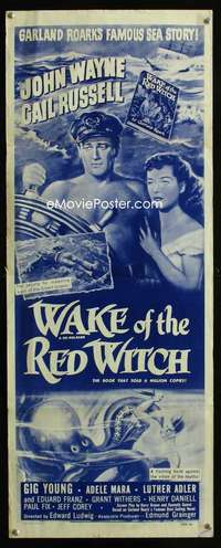 John Wayne Wake of the Red Witch Repro Film POSTER