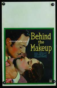 m254 BEHIND THE MAKE-UP window card movie poster '30 William Powell, Fay Wray