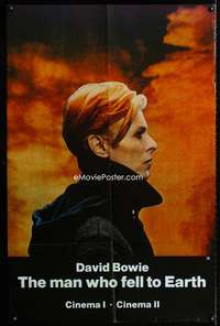 p077 MAN WHO FELL TO EARTH half subway movie poster '76 David Bowie