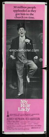 p040 MY FAIR LADY door panel movie poster R71 Stanley Holloway