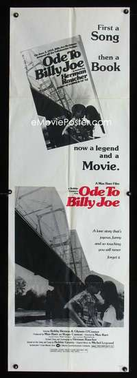 p041 ODE TO BILLY JOE door panel movie poster '76 1st song now movie!