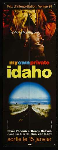 p047 MY OWN PRIVATE IDAHO French doorpanel movie poster '91 Reeves