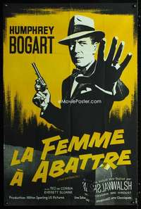 p055 ENFORCER French 32x46 movie poster R81 art of Humphrey Bogart!