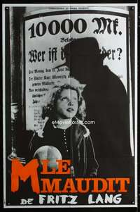 p053 M French 31x46 movie poster R70s Fritz Lang, Peter Lorre