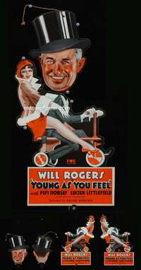 p029 YOUNG AS YOU FEEL movie door hanger '31 Will Rogers