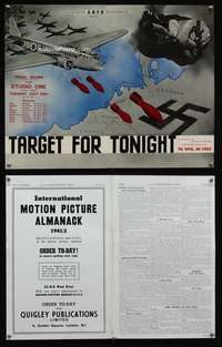 p079 TARGET FOR TONIGHT English movie trade ad '41 bombers!