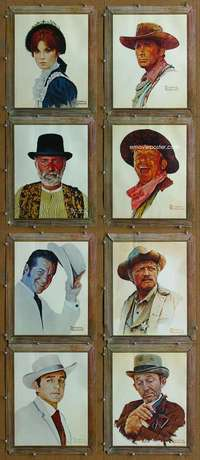 p078 STAGECOACH 8 special art movie displays '66 Rockwell art!